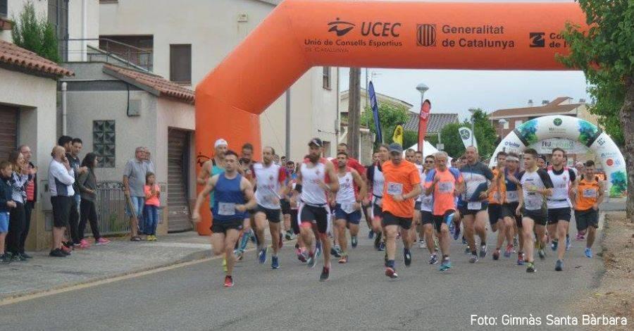 1a cursa 10K de Santa Bàrbara sota la pluja
