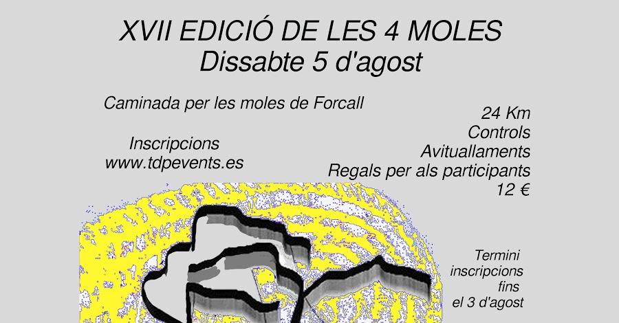 XVII edició de les 4 Moles. Caminada per les moles de Forcall