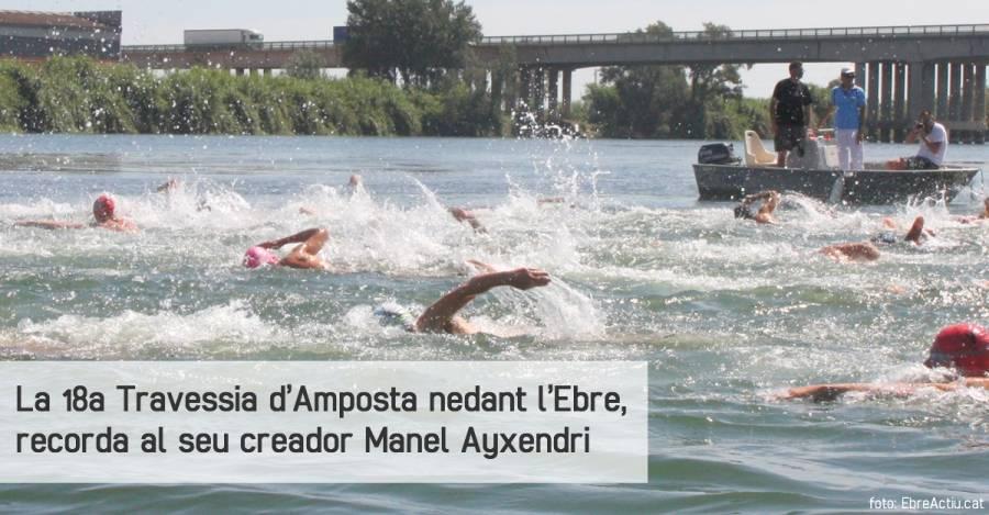 La 18a Travessia d'Amposta nedant l'Ebre, recorda al seu creador Manel Ayxendri
