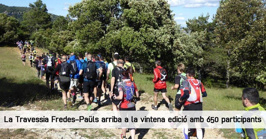 La Travessia Fredes-Paüls arriba a la vintena edició amb 650 participants