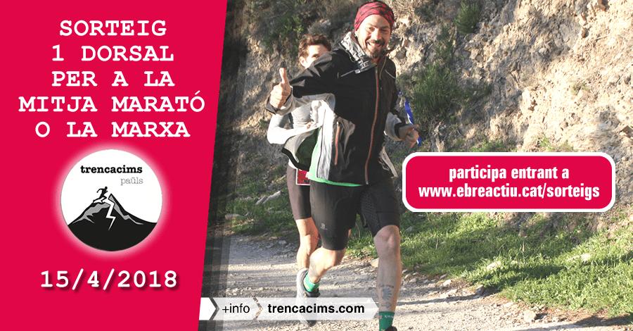 <p>Sorteig 1 dorsal per a mitja marató o marxa de Trencacims Paüls del 15/4/2018</p>