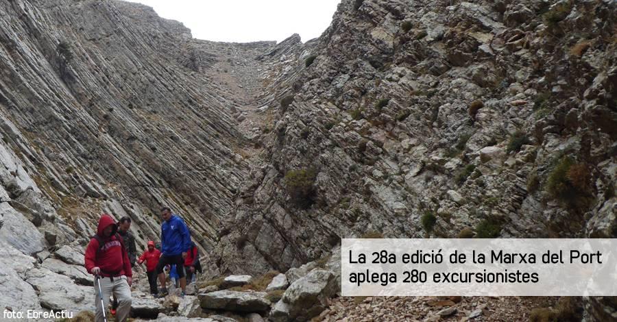 La 28a edició de la Marxa del Port aplega 280 excursionistes