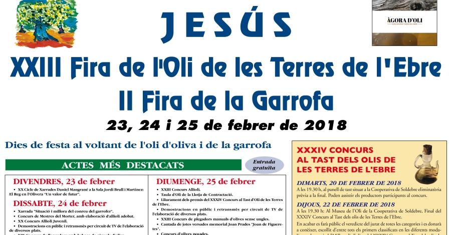 XXIII Fira de l'Oli de les Terres de l'Ebre i II Fira de la Garrofa