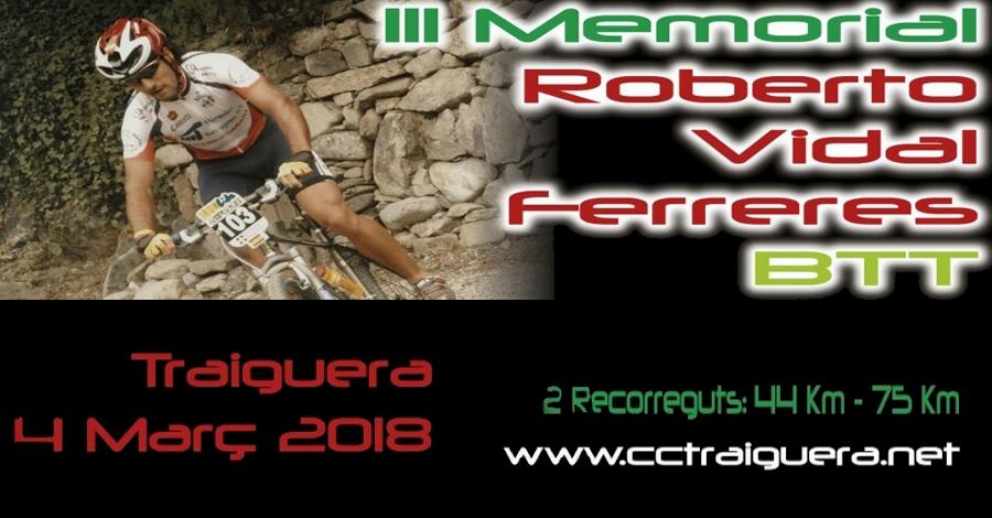 3r Memorial Roberto Vidal Ferreres BTT