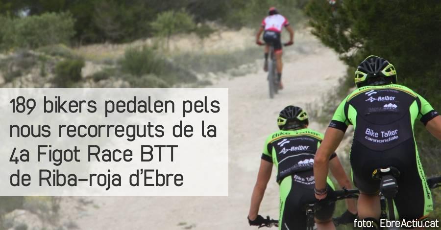 189 bikers pedalen pels nous recorreguts de la 4a Figot Race BTT de Riba-roja d'Ebre