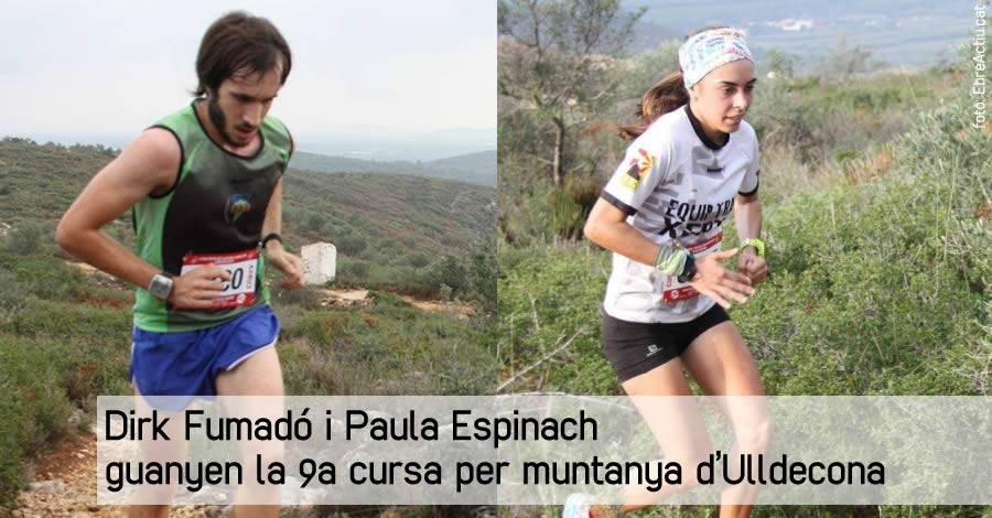 Dirk Fumadó i Paula Espinach guanyen la 9a cursa per muntanya d'Ulldecona