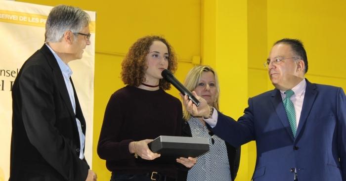 La patinadora Elisa Tomàs Franch del Club Patí l'Aldea, millor esportista de l'any de la comarca del Baix Ebre