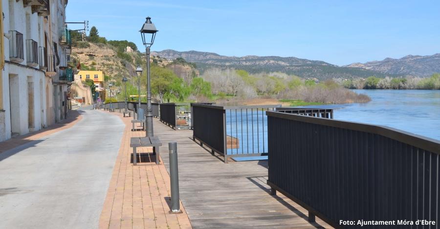 Finalitza la rehabilitació de la façana fluvial de Móra d'Ebre
