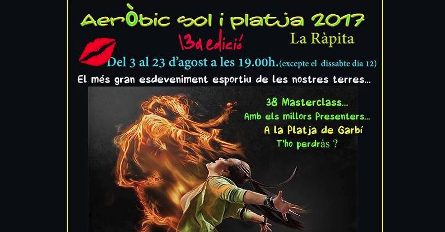 13a edició Aeròbic sol i platja La Ràpita 2017