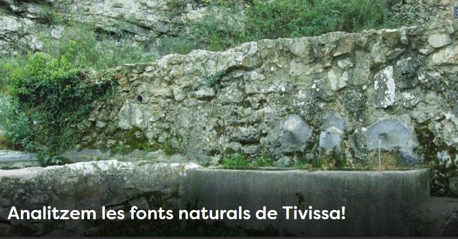 Setmana de la Natura: Analitzem les fonts naturals de Tivissa!