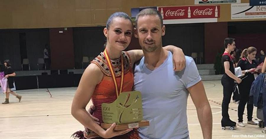 La patinadora Andrea Silva, campiona d´Espanya de Patinatge Artístic