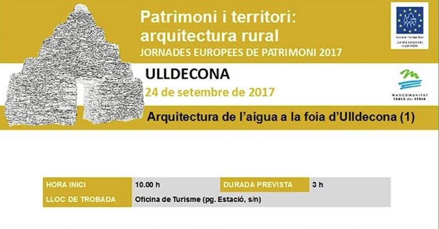 Sortida: Arquitectura de l'aigua a la foia d'Ulldecona (1)