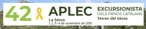 42è Aplec Excursionista dels Països Catalans - Terres del Sénia. Del 31/10/2018 al 04/11/2018