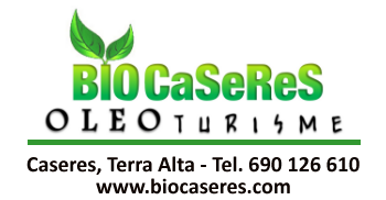 Biocaseres. Oleoturisme i agroturisme. Caseres, Terra Alta