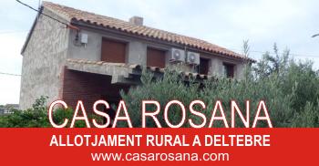 Casa Rosana, allotjament rural a Deltebre (s)