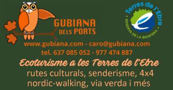 gubiana dels Ports - serveis turístics - ecoturisme a les terres de l´ebre