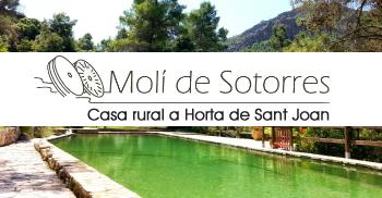 Molí de Sotorres, casa rural a Horta de Sant Joan