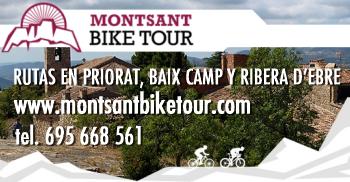 Montsant Bike Tour. Rutas por el Priorat, Baix Camp y Ribera d´Ebre
