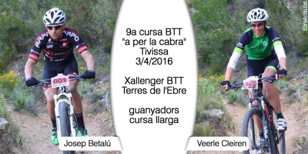 Betalú i Cleiren guanyen la 9a cursa BTT «a per la cabra» de Tivissa