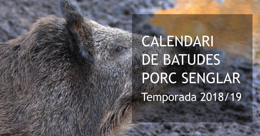 Calendari de batudes de porc senglar