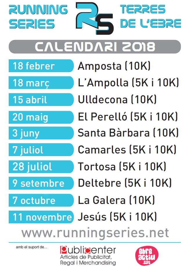 Amposta enceta el Running Series de 2018 | EbreActiu.cat, revista digital per a la gent activa