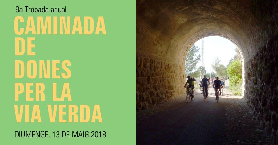 9a Caminada de dones per la Via Verda