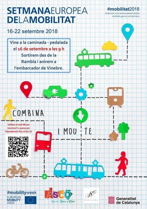 Caminada-pedalada. Setmana Europea de la Mobilitat