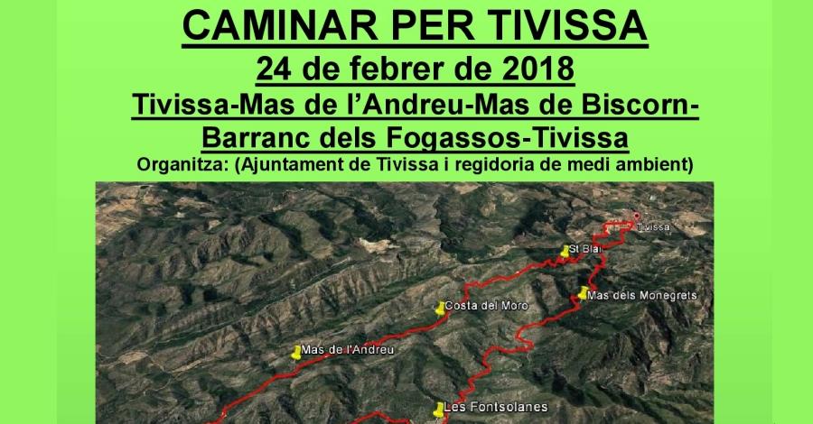 Sortida: Tivissa-Mas de l'Andreu-Mas de Biscorn-Barranc dels Fogassos-Tivissa