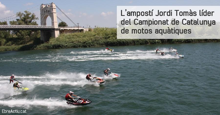 L'ampostí Jordi Tomàs líder del Campionat de Catalunya de motos aquàtiques