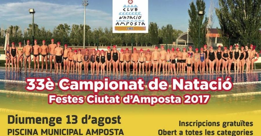 33è Campionat de Natació. Festes Ciutat d'Amposta 2017
