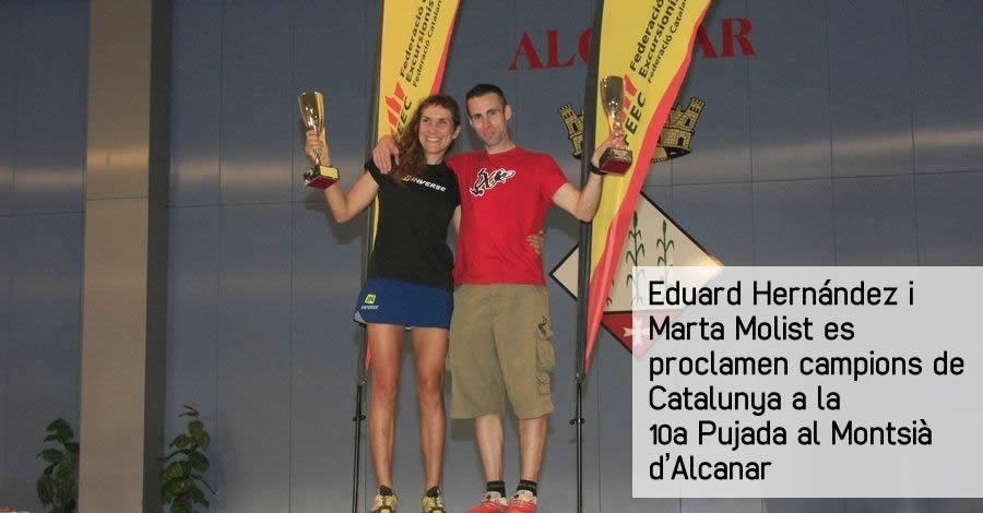 Eduard Hernández i Marta Molist es proclamen campions de Catalunya a la 10a Pujada al Montsià d'Alcanar