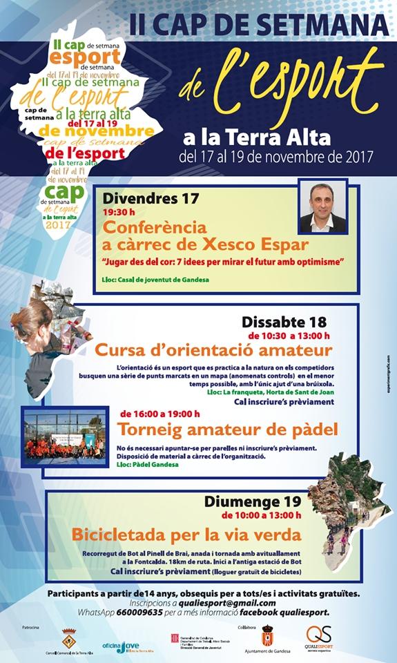 La Terra Alta celebrarà la II Setmana de l'Esport | EbreActiu.cat, revista digital per a la gent activa