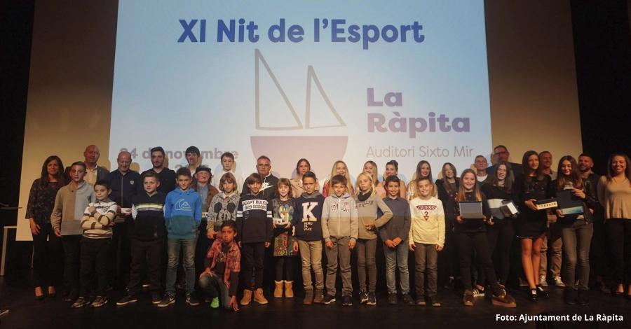 La Ràpita premia en la Nit de l'Esport vint esportistes i equips de trajectòria destacada