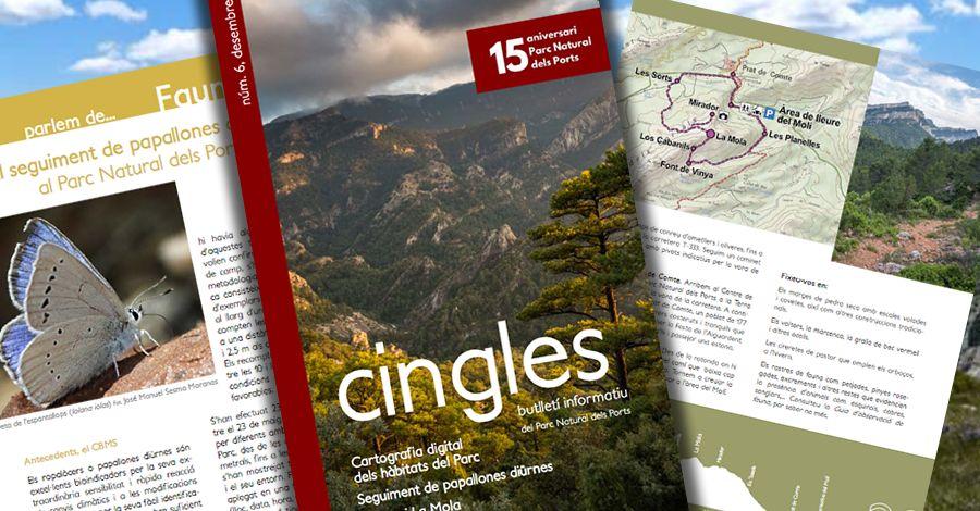 Cingles, número 6 del butlletí informatiu del Parc Natural dels Ports