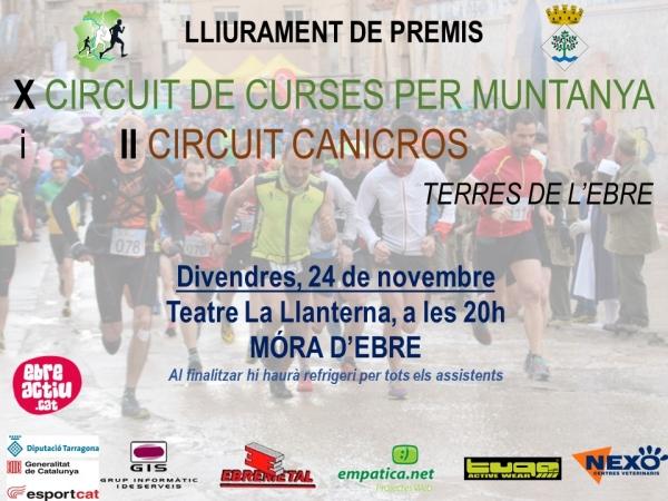 Festa de cloenda del Circuit de Curses per Muntanya Terres de l'Ebre 2017