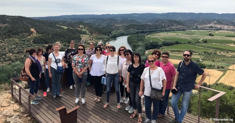 Una quinzena de comerciants riberencs visiten actius turístics de la comarca per fer-se'n prescriptors
