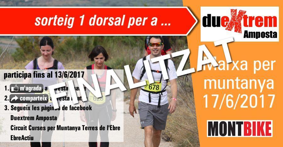 <p>sorteig 1 dorsal per la Marxa Duextrem Amposta (17/6/2017)</p>