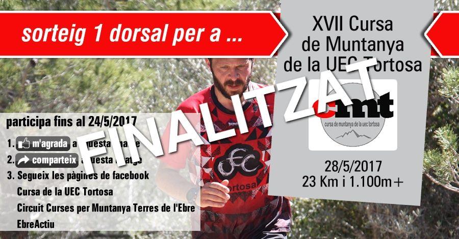 <p>Sorteig 1 dorsal per a la  17a Cursa per Muntanya de la UEC Tortosa del 28/5/2017</p>