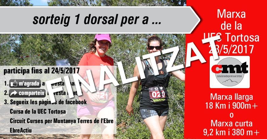 Sorteig 1 dorsal: Marxa de la UEC Tortosa del 28/5/2017