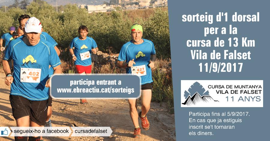 <p>Sorteig 1 dorsal per a la cursa de 13 Km Vila de Falset (11/9/2017)</p>