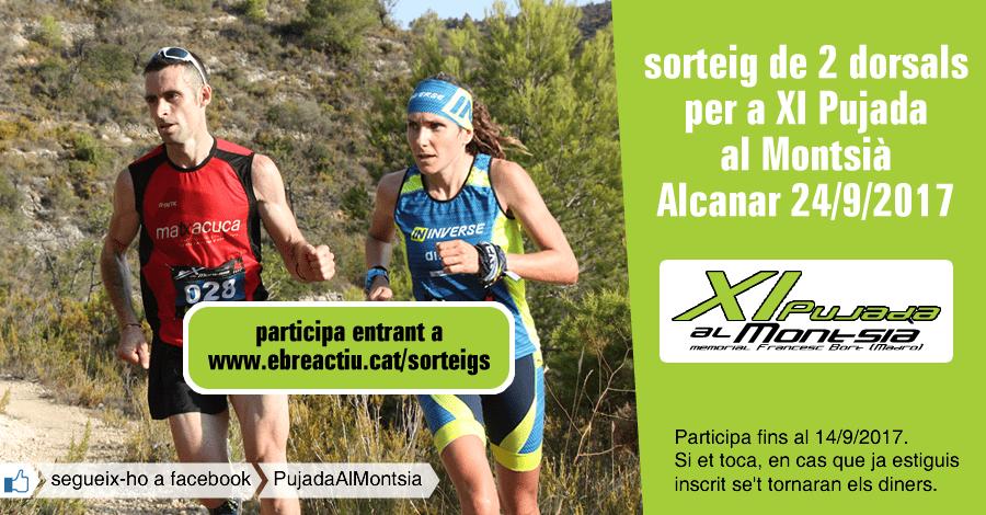 <p>Sorteig 2 dorsals per a la XI Pujada al Montsià - Alcanar - 24/9/2017</p>