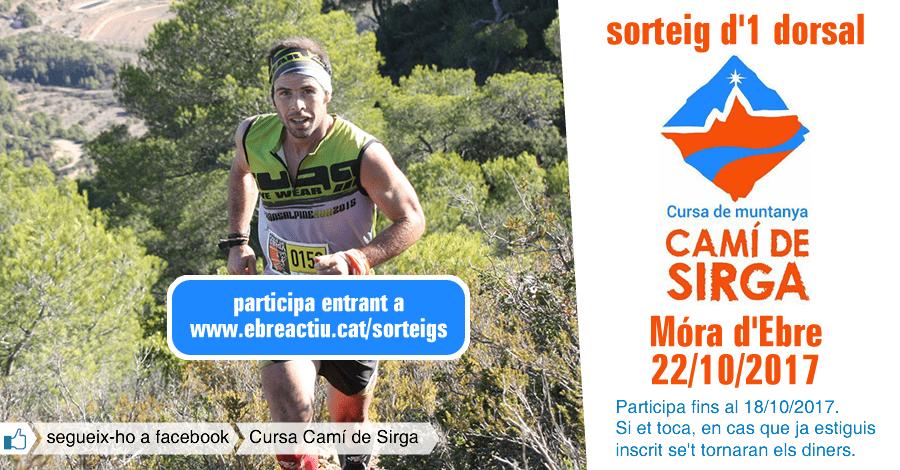 <p>sorteig 1 dorsal per a la 8a Cursa Camí de Sirga de Móra d&rsquo;Ebre (22/10/2017)</p>