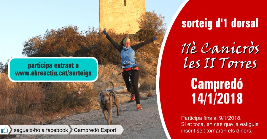 <p>Sorteig 1 dorsal per a l&rsquo;11è Canicross de Campredó del 14/1/2018</p>
