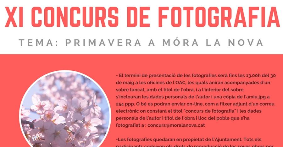 XI Concurs de fotografia: «Primavera a Móra la Nova»