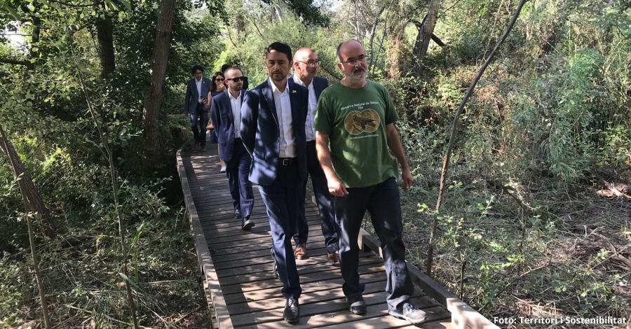El conseller de Territori i Sostenibilitat visita la Reserva Natural de Sebes