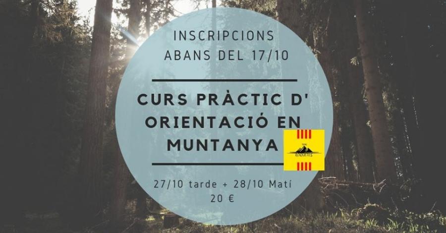 Inscripció al Curs Pràctic d' Orientació per Muntanya