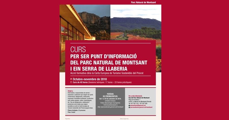 Pre-inscripcions Curs per ser Punt d'Informació PN de la Serra de Montsant i EIN Serra de Llaberia
