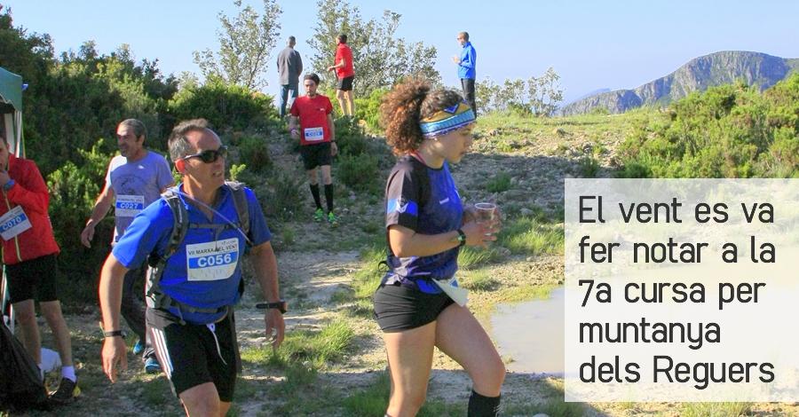 El vent es va fer notar a la 7a cursa per muntanya dels Reguers