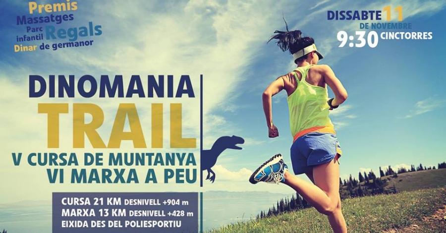 V Cursa de Muntanya i VI Marxa a Peu Dinomania TRAIL