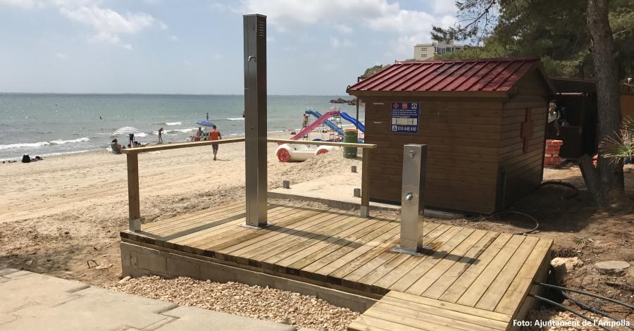 L´Ampolla inverteix 50.000 euros en la millora dels serveis de les platges